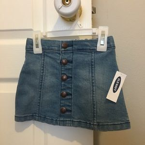 NWT Old Navy 2T blue jean skirt